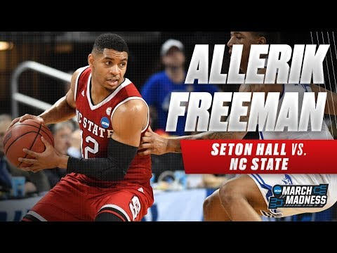 Allerik Freeman scores 36 points as NC State falls short against Seton Hall
