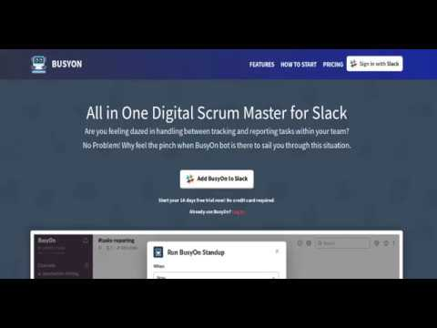 BusyOn (All in One Digital Scrum Master for Slack)
