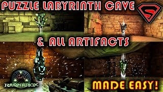 RAGNAROK PUZZLE LABYRINTH CAVE ALL ARTIFACTS & HOW TO GET THEM - PUZZLE LABYRINTH CAVE WALKTHROUGH
