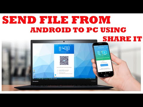 HOW TO SEND FILE FROM ANDROID TO PC USING SHARE IT