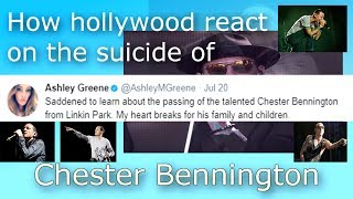 Chester bennington suicide- how celebrities react on his suicide, at chris cornell funeral