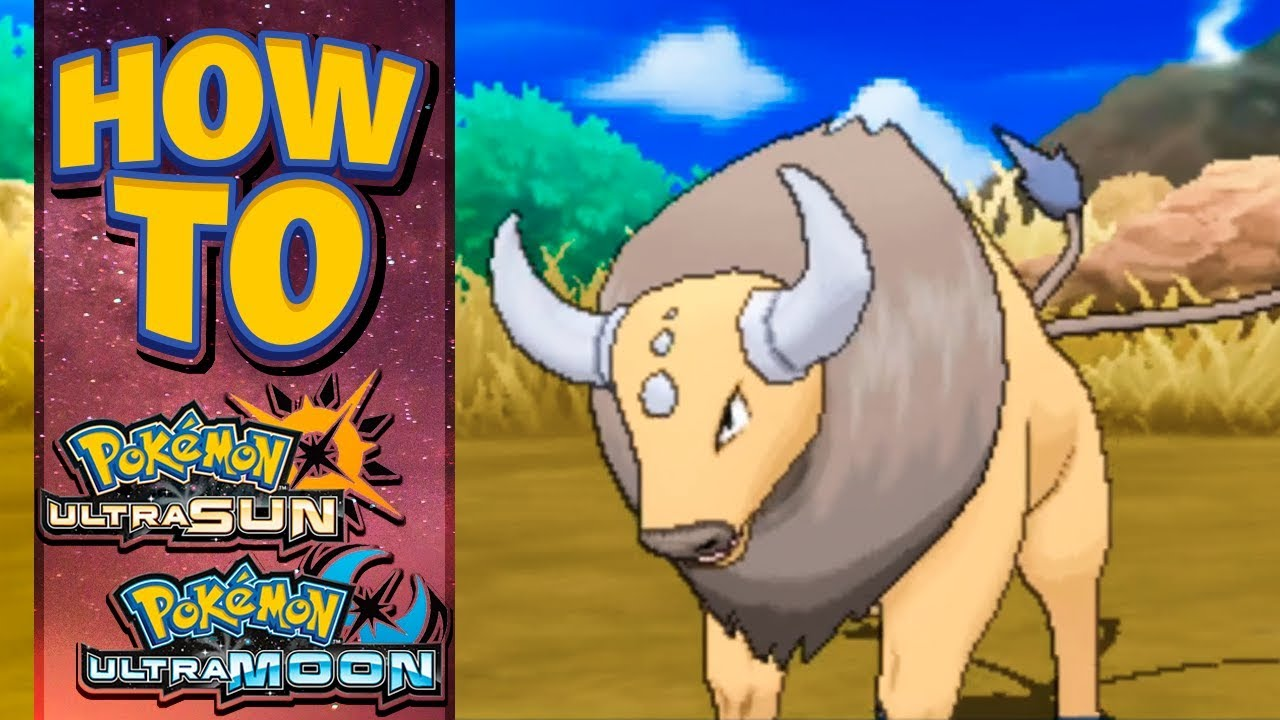 how to get tauros in pokemon ultra sun and moon youtube