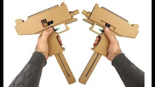 How To Make Full Auto Uzi - Cardboard X2