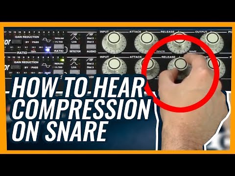 How to hear compression on a rock snare drum - tutorial