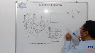 Engineering Drawing || Isometric To Orthographic Projection || Isometric Projection