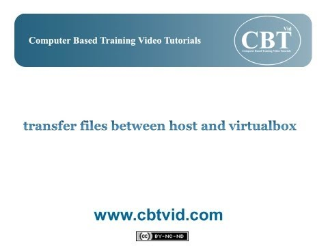 transfer files between host and virtualbox