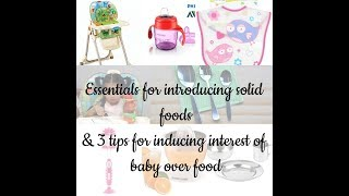 10 solid food essentials for infants in tamil /3 tips to make ur baby eat solid foods in tamil