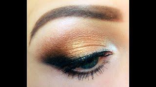 Вечерний макияж с растушеванной стрелкой