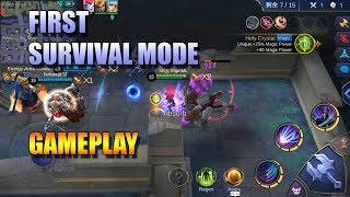 SURVIVAL MODE GAMEPLAY - MY FIRST GAME AND I WON!! - MOBILE LEGENDS