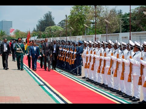 PRESIDENT KAGAME ARRIVES IN MOZAMBIQUE