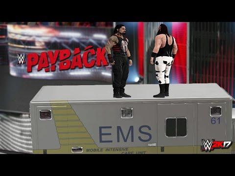 WWE 2K17 Payback 2017 - Roman Reigns vs Braun Strowman (2K17 Prediction)