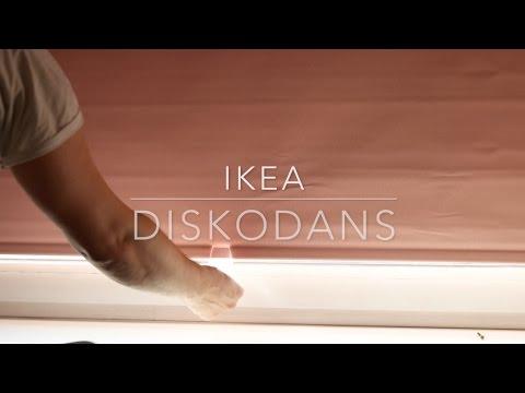 Blinde Wandplank Ikea.Ikea Diskodans Block Out Roller Blind Youtube