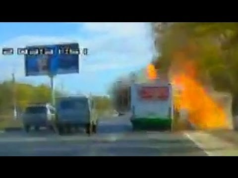 DEADLY TERRORIST ATTACK on Volgograd bus   LIVE VIDEO Footage   REAL TIME scene of the BLAST