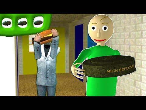 BALDI HAS A PROXIMITY MINE?! - Garry's Mod Multiplayer (Baldi's Basics Roleplay)