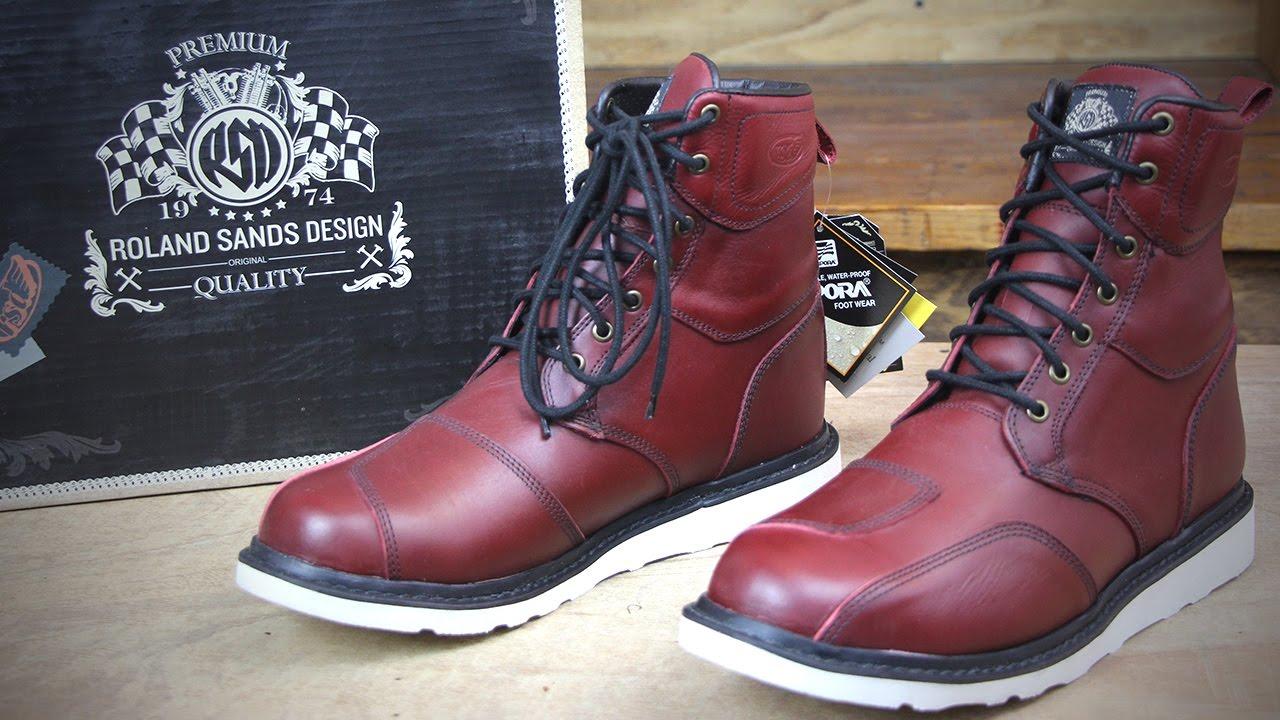 Roland Sands Design - Mojave Boots - Oxblood