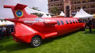 Apostle Kwadwo Sarfo Kantanka Launches Aeroplane-Car & Police CarMade In Ghana