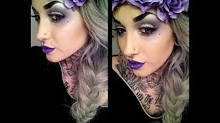Alternative Hippy | Smoked Purple Makeup Tutorial