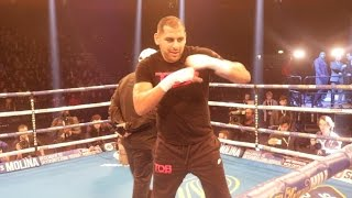 IS ERIC MOLINA THE MAN TO KO ANTHONY JOSHUA - (FULL & UNCUT) PUBLIC WORKOUT / JOSHUA v MOLIN