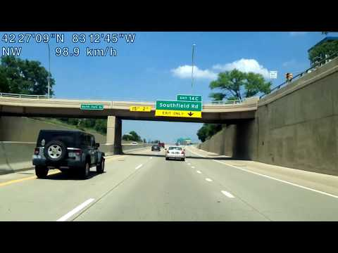 Driving from Detroit, Michigan to Commerce Township, Michigan