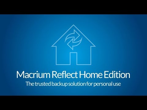 Welcome to Macrium Reflect Home Edition