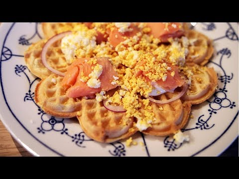 Saison waffles with salmon & sour cream | The Craft Beer Channel
