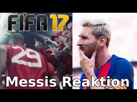 Lionel Messi reagiert auf den Fifa 17 Trailer/Tv Spot