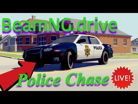 BeamNG.Drive Police Chase With Steering Wheel