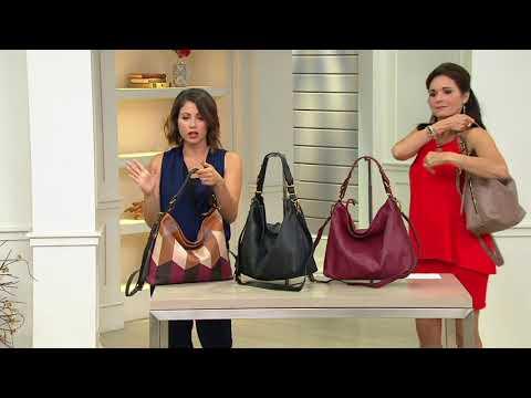 a2cf4eaf00 orYANY Pebble Leather Convertible Hobo Handbag -Arlene on QVC