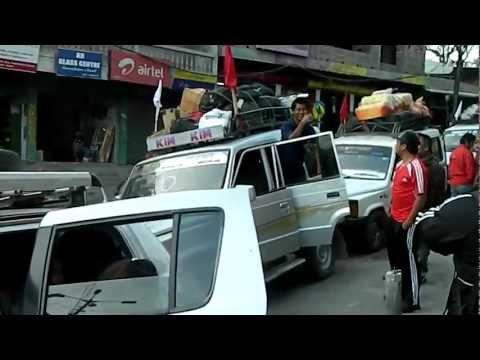 Aizawl FC players and officials arriving Aizawl from Silchar