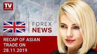 InstaForex tv news: 28.11.2019: Market sentiment worsens after Trump signs Hong Kong bill (USDX, USD/JPY, AUD/USD)