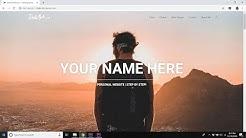 How to Create a Personal / Portfolio Website | 2019