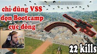 chocoTaco chỉ dùng VSS dọn sạch khu Bootcamp cực đông hốt top 1 với 22 kills   PUBG