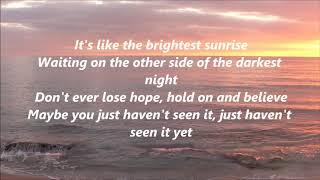 Danny Gokey - Haven't Seen It Yet (Lyrics)