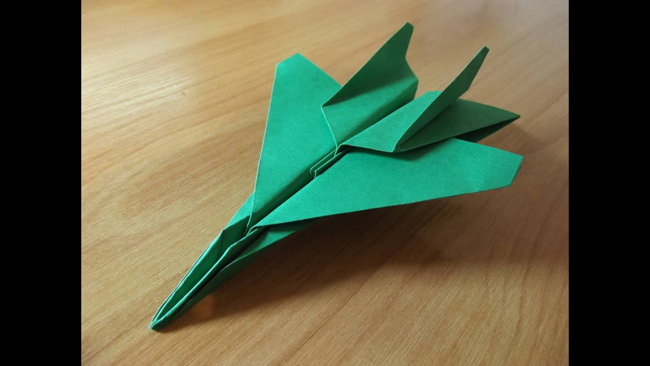how to make an f15 eagle jet fighter paper plane youtube