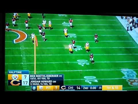 Steelers & Bears blocked punt return almost returned for a touchdown