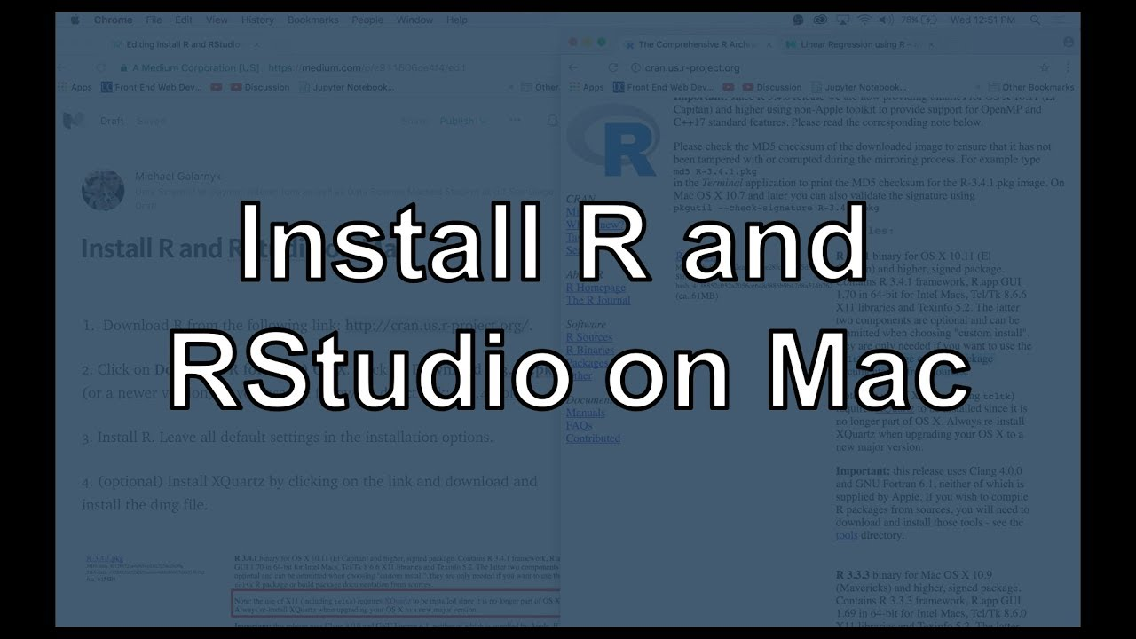 Install R and RStudio on Mac - Michael Galarnyk - Medium