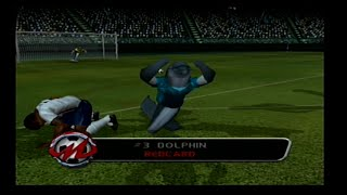 RedCard 20-03 Gamecube Gameplay - World Conquest England VS Dolphins