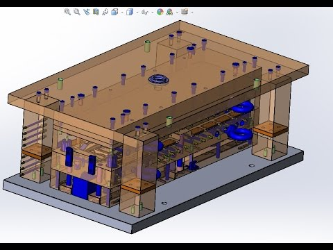 [Part 1]Basic Mold Design-Injection Molding[Using Solid Work]