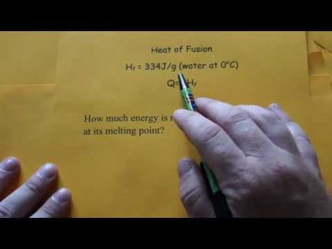 Heat of Fusion Calculation