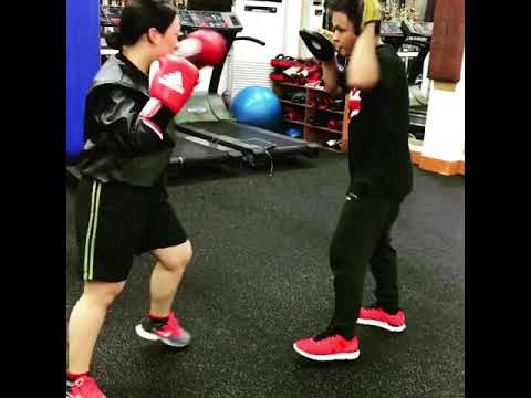 KOREA KM BOXING CLUB MITTS WORK OUT