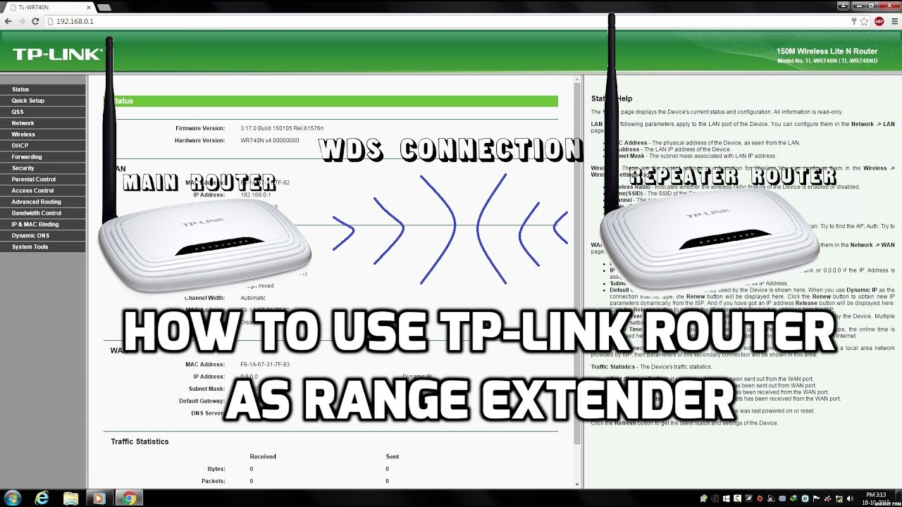 How to use Tp-Link Router As Range Extender