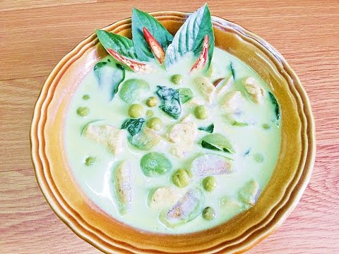 How To Cook Thai Green Curry Chicken : Thai food recipes แกงเขียวหวานไก่