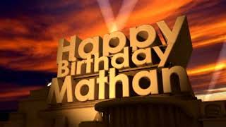 Happy Birthday Mathan