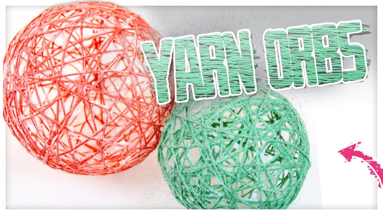 Gorgeous diy yarn orbs do it gurl youtube for What can you make with balloons