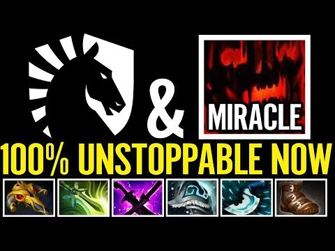Miracle GENIUS Carry SF 100% Unstoppable Now Liquid Team DOTA 2
