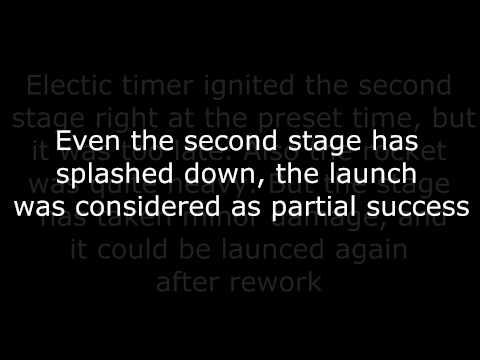 Cyclone-4 model rocket launch