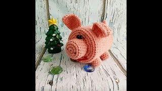 Свинка - копилка крючком из бросового пластика. МК. Символ 2019г.