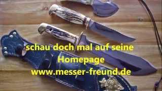 Handgemachte Bowie Messer von Michael Freund Messermacher aus Zwickau in Sachsen deutsch
