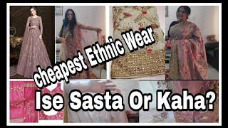 Affordable Indian Ethnic Party Wear Saree, Lehenga, Anarkali, Kurtis | Online Shopping Haul