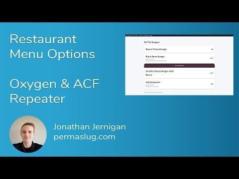 Restaurant Menu Options